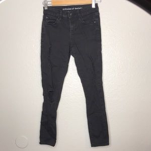 Articles of Society Skinny Jeans Distressed Black